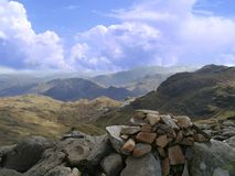 Looking south from Sergeat Man, Lake District Royalty Free Stock Photo