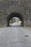 Looking through Spanish Arch, Galway City, County Galway. Ireland Royalty Free Stock Photo