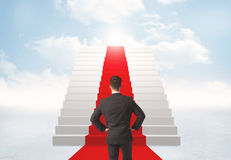 Looking at stairs to heaven Stock Photography