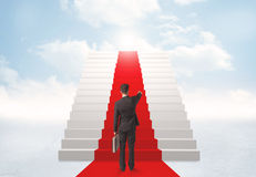Looking at stairs to heaven Royalty Free Stock Photo