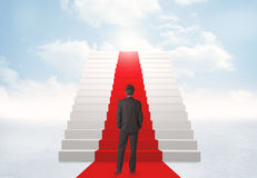 Looking at stairs to heaven Royalty Free Stock Image