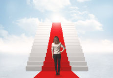 Looking at stairs to heaven Stock Image
