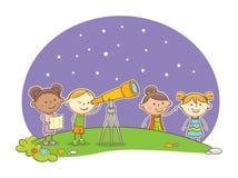 Looking at Stars Royalty Free Stock Photos