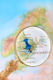 Looking in on Stockholm,Sweden Royalty Free Stock Photos