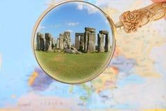 Looking in on Stonehenge Stock Image