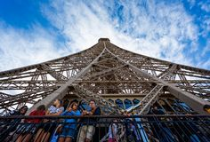 Free Looking Straight Up At The Eiffel Tower From The 2nd Floor In Paris Royalty Free Stock Photos - 126459258