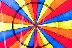 Inside a hot air balloon Stock Images