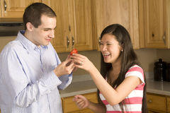 Looking strawberry Stock Image