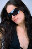 Looking through a sunglasses Royalty Free Stock Photo