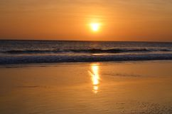 Looking at sunsets on the beach, Paradise, magic, beach, Costa Rica Royalty Free Stock Photo