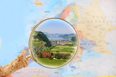 Looking in on Switzerland landscape Stock Photos