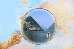 Looking in on Switzerland landscape Royalty Free Stock Photo