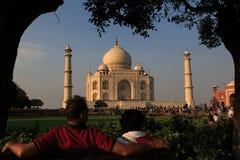 Looking at Taj Mahal Royalty Free Stock Photo