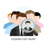 Looking for Talent Icon Flat Design Stock Photo