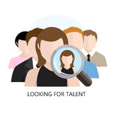 Looking for Talent Icon Flat Design Royalty Free Stock Images