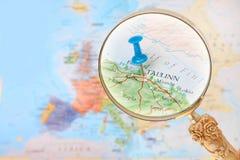 Looking in on Tallinn, Estonia Stock Image