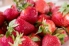 Looking tasty big fresh strawberry royalty free stock photos