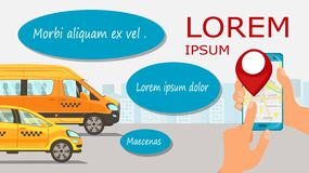 Looking for Taxi Driver Flat Web Banner Template royalty free illustration
