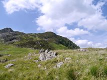 Looking to Black Crag, Lake District. From col plateau between Glenridding Dodd and Heron Pike, near Glenridding royalty free stock photos