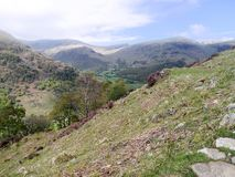 Looking to Borrowdale, Lake District Royalty Free Stock Image