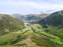 Looking to Brothers Water from From High Hartsop Dodd Royalty Free Stock Photos