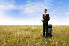 Looking to the business global Stock Photography