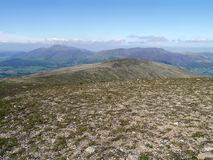 Looking to Clough Head with Skiddaw and Blencathra behind Stock Image