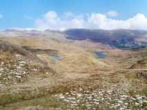 Looking to Codale and Easedale tarns, Lake District Royalty Free Stock Images