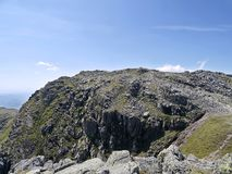 Looking to Crinkle Crag summit, 2nd Crinkle, Lake District Royalty Free Stock Photo