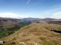 Looking to a distant Skiddaw and Derwent Water Royalty Free Stock Photography