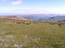 Looking to a distant Ullswater from Stybarrow Dodd Royalty Free Stock Photography