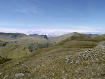 Looking to Fleetwith Pike from Rosthwaite Fell Royalty Free Stock Photos