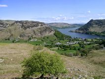 Looking to Glenridding with Ullswater behind Royalty Free Stock Images