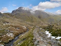 Looking to Great Gable, Lake District Royalty Free Stock Photos