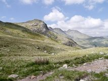 Looking to the Great Knott with Crinkle Crags behind Stock Images