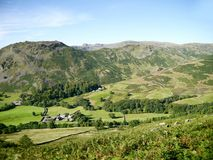 Looking to Helm Crag and ridge, Lake District Stock Photos