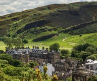 Free Looking To Holyrood Abbey From Calton Hill, Edinburgh, Scotland, Stock Image - 123862931