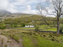 Looking to houses in Borrowdale Stock Photography