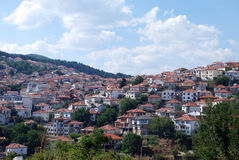 Looking to Krusevo, city in Macedonia. Looking to Krusevo, tourist town in Macedonia Royalty Free Stock Images