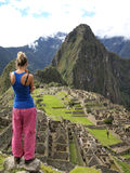 Looking to the Machu Picchu Royalty Free Stock Photos