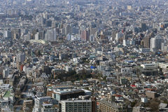 Looking to the modern district of Tokyo, Japan Stock Photo