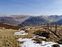 Looking to Rosthwaite Fell in Borrowdale, Lake District Royalty Free Stock Image