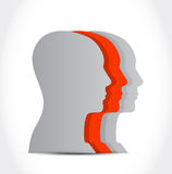 Looking to the same direction. illustration design Royalty Free Stock Images