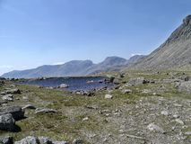 Looking to the Scafells from Three Tarns area, Lake District Stock Image