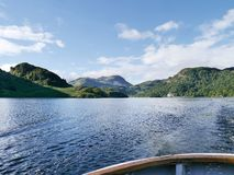 Looking to south end of Ullswater from ferry Stock Photos