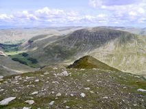 Looking to the start of the east ridge on Nethermost Pike Stock Photo
