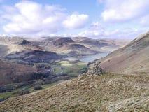 Looking to Ullswater from Rake Crag, Lake District Royalty Free Stock Photo
