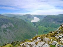 Looking to Wast Water from Great Gable, Lake District Stock Photography