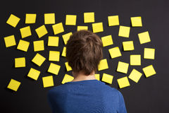 Looking to yellow reminders Royalty Free Stock Images