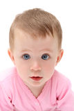 Looking to you baby girl. Close-up portrait Royalty Free Stock Images